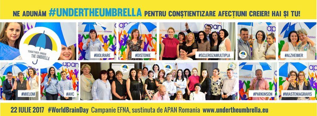 #UnderTheUmbrella campanie eurpeană conștientizare afecțiuni neurologice